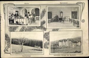 Ak Gratwein Straßengel Steiermark, Heilstätte Hörgas, Küche, Speisesaal, Teich