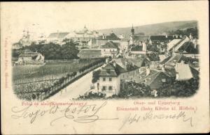 Ak Kismarton Eisenstadt im Burgenland, Ober und Unterberg, Kirche kl. Höflein