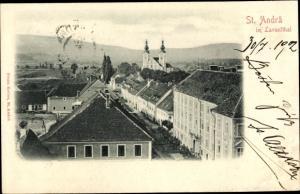 Relief Ak St Andrä im Lavanttal in Kärnten, Blick über die Dächer der Stadt