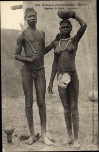Ak Afrique occidentale, Bohos, Région de Bobo Dioulasso, Afrikaner, Paar