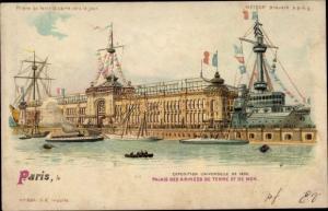 Halt gegen das Licht Litho Paris, Exposition Universelle de 1900, Palais des Armées, Meteor