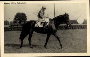 Ak Rennpferd Conny, Jockey Otto Schmidt