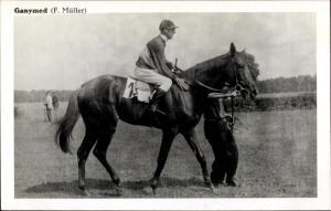 Ak Rennpferd Ganymed, Jockey F. Müller
