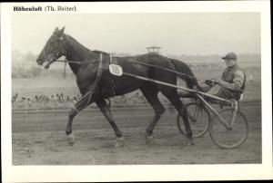 Ak Rennpferd Höhenluft, Jockey Th. Reiter