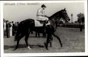 Ak Rennpferd Effendi, Jockey Otto Schmidt