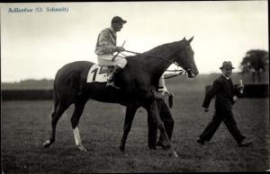 Ak Rennpferd Adlerfee, Jockey O. Schmidt