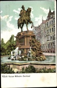 Ak Köln am Rhein, Kaiser Wilhelm Denkmal