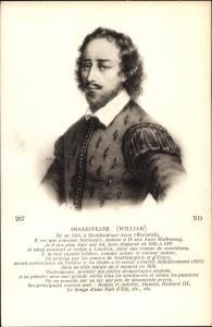 Ak William Shakespeare, Portrait