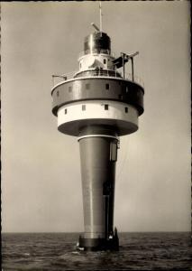 Ak Leuchtturm Alte Weser
