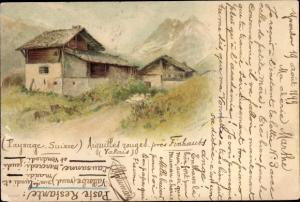 Künstler Ak Yverdon-les-Bains Schweiz, Aiguilles zouges prés Finhauss