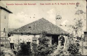 Ak București Bukarest Rumänien, Espositia Nationala 1906, Cas locultä de MS Regele la Podina 1877