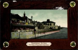 Ak Cobh Queenstown Cork Irland, The Quay and Royal Cork Yacht Club