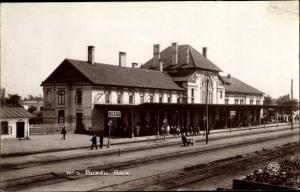 Ak Buzău Busäu Rumänien, Bahnhof