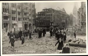 Foto Ak Hamburg Mitte Altstadt, Mönckebergstraße, Gebäuderuinen, Kriegszerstörung 1945