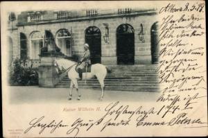 Ak Hamburg Altona, Kaiser Wilhelm II zu Pferd