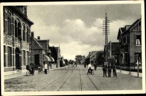 Ak Hoogeveen Drenthe Niederlande, Stationsstraat