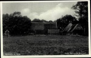 Ak Zuidvelde Norg Midden Drenthe Drenthe Niederlande, Oude Saksische Boerderij