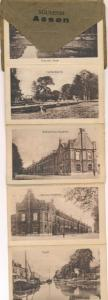 Leporello Ak Assen Drenthe Niederlande, Straßenpartie, Gebäude, Hafen