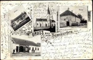 Ak Hauskirchen in Niederösterreich, Schloss, Kirche, Pfarrhof, Handlung M. Paschkes
