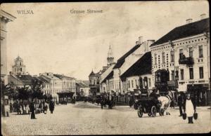 Ak Vilnius Wilna Litauen, Große Straße