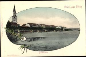 Ak Jelgava Mitau Lettland, Bachstraße