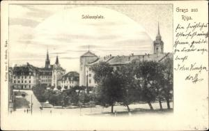 Ak Riga Lettland, Schlossplatz