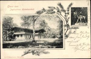 Ak Joachimsthal Uckermark in Brandenburg, Jagdschloss Hubertusstock