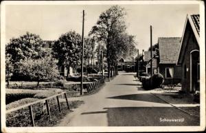 Foto Ak Schouwerzijl Groningen Niederlande, Ortspartie