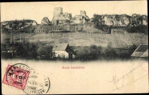 Ak Burg Landskron Leymen Haut Rhin, Ruine