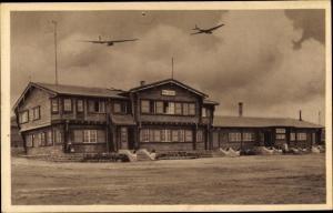 Ak Gersfeld in der Rhön Hessen, Wasserkuppe, Haus Ursinus, Segelflugzeuge