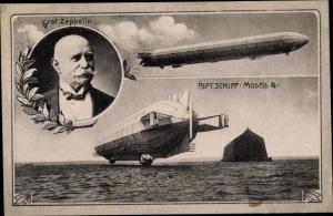 Ak Graf Zeppelin, Luftschiff Modell 4