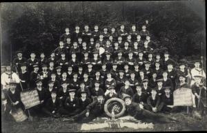 Foto Ak Deutsche Marine Soldaten im Kaiserreich, Gruppenbild