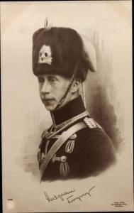 Künstler Ak Kronprinz Wilhelm von Preußen, Totenkopf Husar, NPG 4338