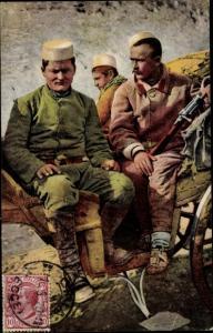 Ak Albanien, Costumi Albanesi, Soldati di Essad Pascia, Soldaten