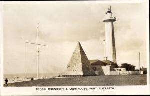 Foto Ak Cape Town Kapstadt Südafrika, Donkin Monument and Lighthouse, Port Elizabeth