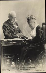 Ak Erzherzog Rainer von Österreich, Erzherzogin Maria, BKWI 887/292