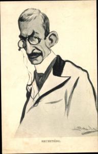 Künstler Ak Schriftsteller Ferdinand Brunetière, Karikatur