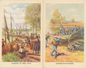 Klapp Ak Engagements dans les Troupes Metropolitaines, Sapeurs Pontonniers, Passage du Rhin 1795