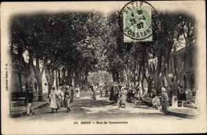 Ak Setif Algerien, Rue de Constantine