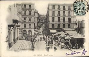 Ak Algier Alger Algerien, Rue Marengo