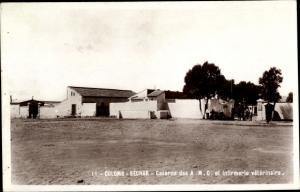 Ak Colomb Bechar Algerien, Caserne des AMC et Infirmerie veterinaire