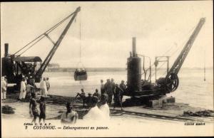 Ak Cotonou Benin, Debarquement en panne