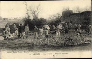 Ak Meknès Marokko, Source lavoir, Abreuvoir militaire