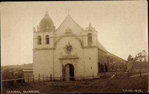 Foto Ak San Carlos Kalifornien, Carmel Mission, Kirche