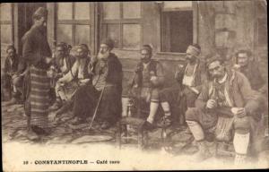 Ak Konstantinopel Istanbul Türkei, Cafe turc