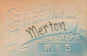 Präge Ak Merton Waukesha Wisconsin USA