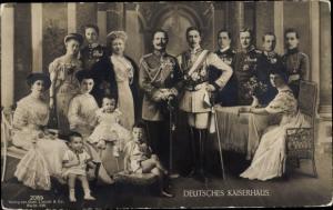 Ak Adel Preußen, Deutsches Kaiserhaus, Familien Portrait