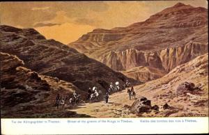 Ak Tal der Königsgräber in Theben, Reiten