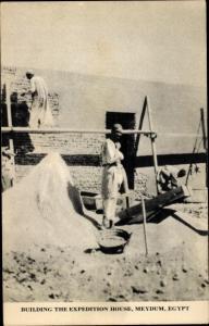 Ak Meydum Ägypteng, Building the Expedition House