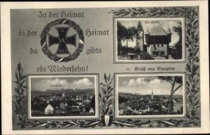 Passepartout Ak Kempten im Allgäu Schwaben, Neustadt, Burghalde, Altstadt
